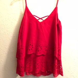 Tops - Red sleeveless blouse